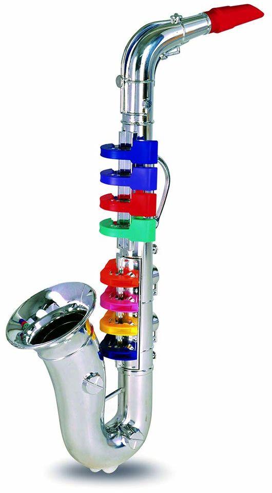 Bontempi Saksofon 32 4331 z 8 kolorowymi przyciskami/nutami. dł. 415 mm