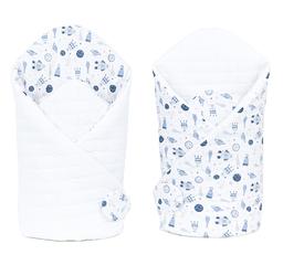 MAMO-TATO Rożek niemowlęcy dwustronny Velvet Kosmos / biały