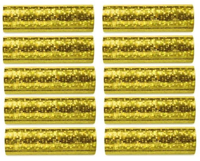 Serpentyny złote na Urodziny 10 sztuk SHN-019