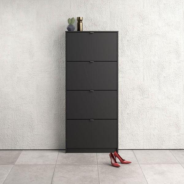 Szafka na buty roma 4d duża, czarny mat