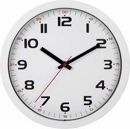 TFA Dostmann zegar ścienny analogowy, 60.3050.02, szkło, tworzywo sztuczne, biały,