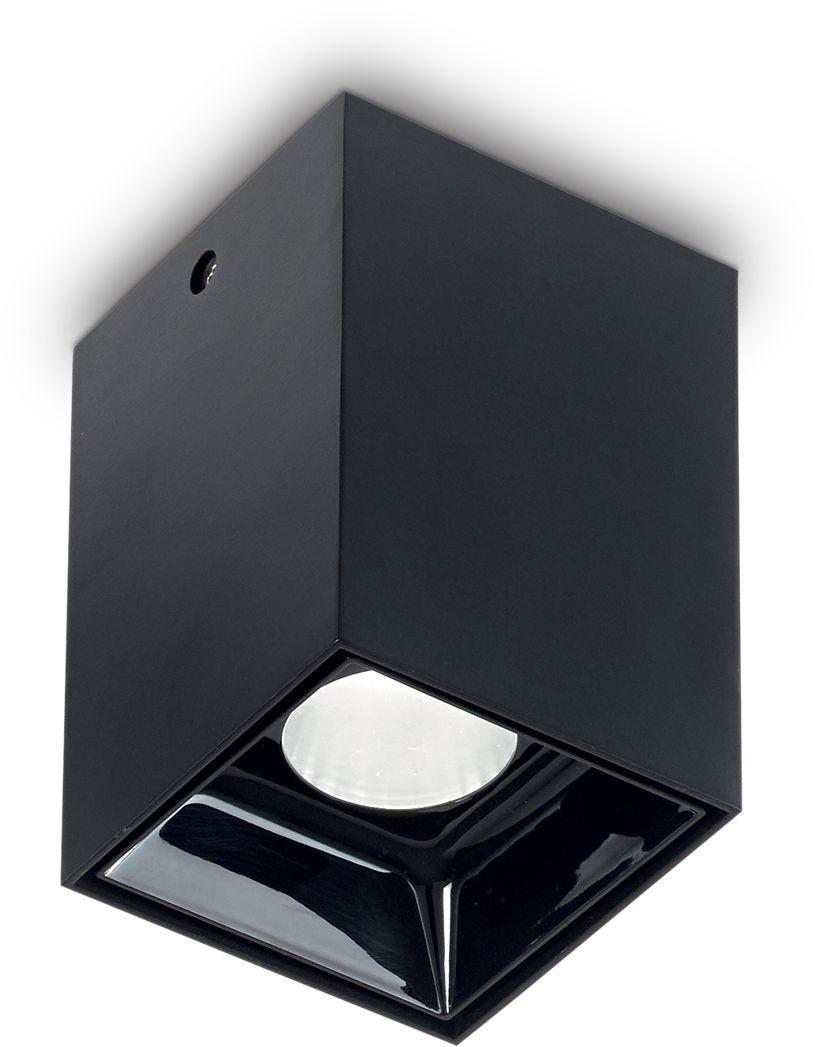 Plafon Nitro 10W Square 206042 Ideal Lux nowoczesna oprawa sufitowa w kolorze czarnym