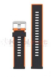 Pasek RP061/POM/20- pomarańczowe wstawki, silikonowy