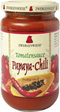 Sos pomidorowy papaya-chili pikantny bezglutenowy bio 350 g - zwergenwiese