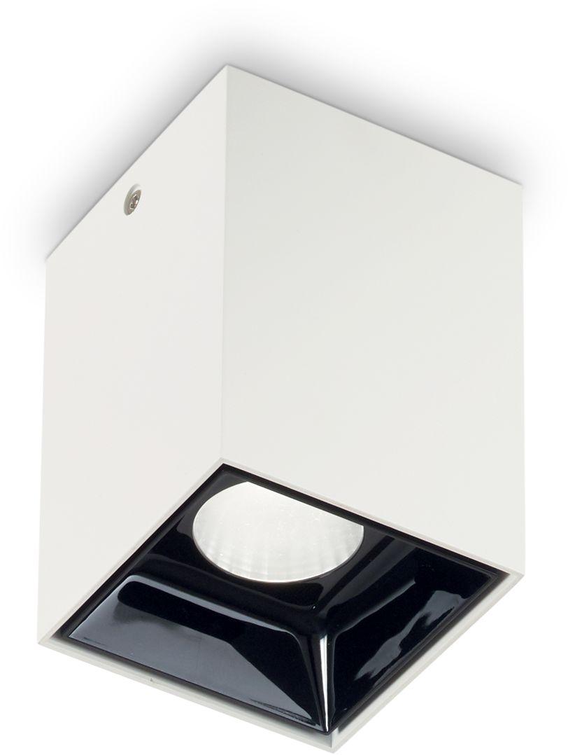 Plafon Nitro 10W Square 206035 Ideal Lux nowoczesna oprawa sufitowa w kolorze białym
