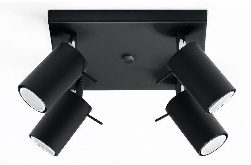 Sollux - plafon ring 4 - czarny