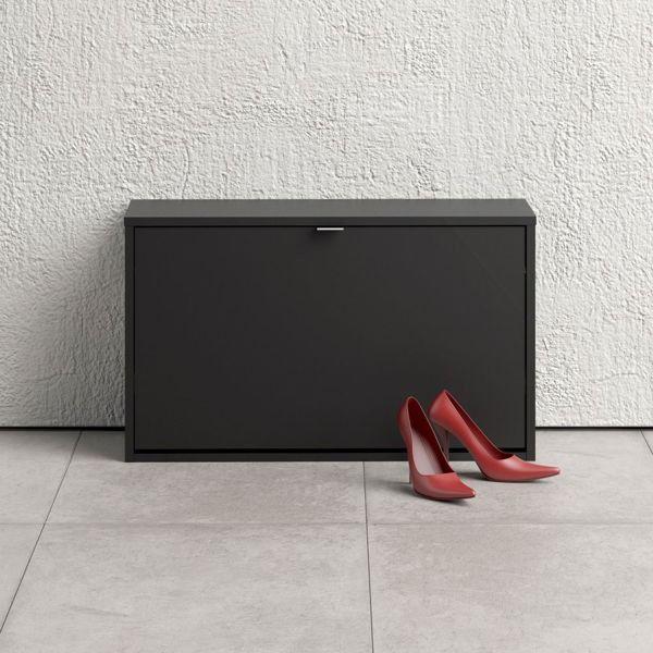 Szafka na buty roma 1d mała, czarny mat