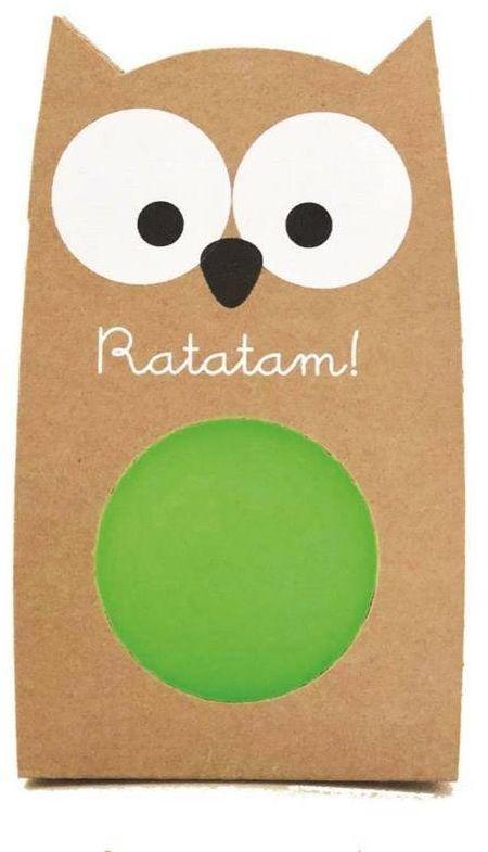 Piłka mini kauczukowa 4 cm bird green