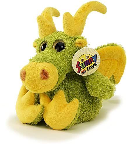 Sunny Toys 39007 - Pluszowy smok z czapkami, około 25 cm
