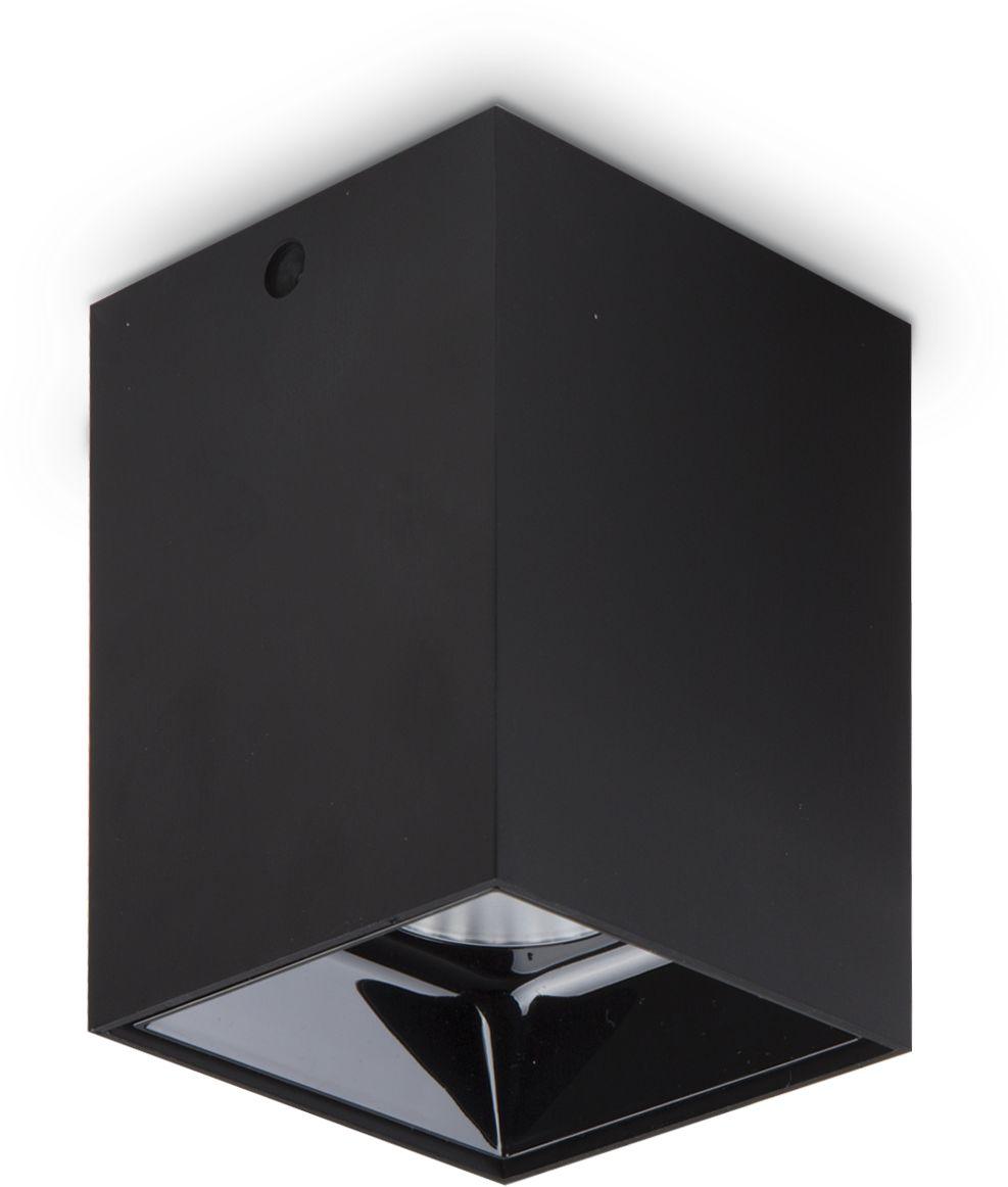 Plafon Nitro 15W Square 206011 Ideal Lux nowoczesna oprawa sufitowa w kolorze czarnym