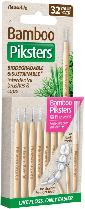 PIKSTERS BAMBOO Original 32szt. - bambusowe szczoteczki międzyzębowe - WYBIERZ ROZMIAR