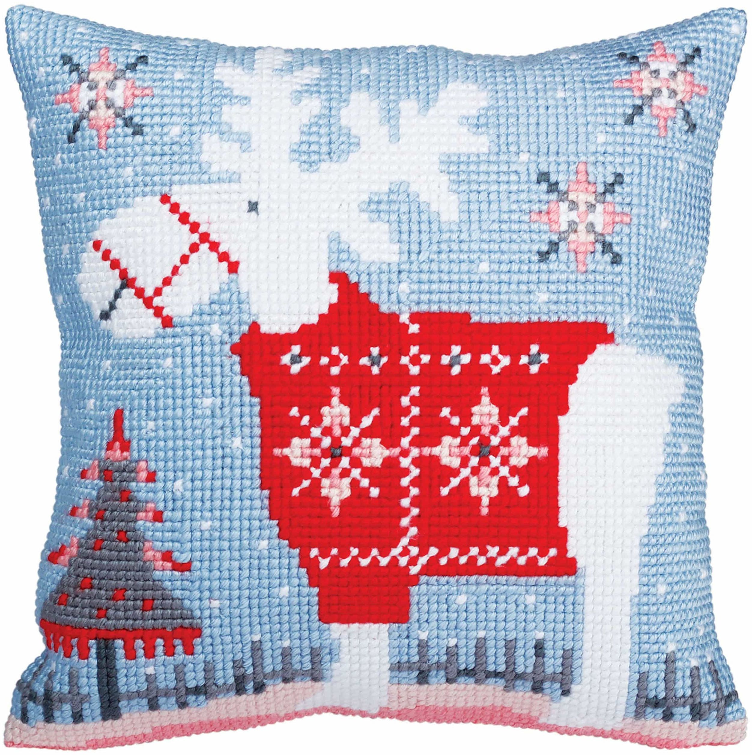 Kolekcja d''Art zestaw poduszek / Boże Narodzenie jeleń/40 x 40, Multi, 40 x 40 cm