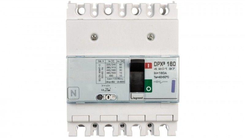 Wyłącznik mocy 160A 4P 50kA DPX3 160 420137