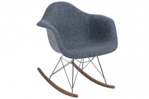 Krzesło bujane P018 Duo niebiesko-szare