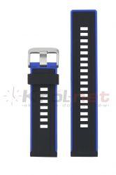 Pasek RP061/NB/22- niebieskie wstawki, silikonowy