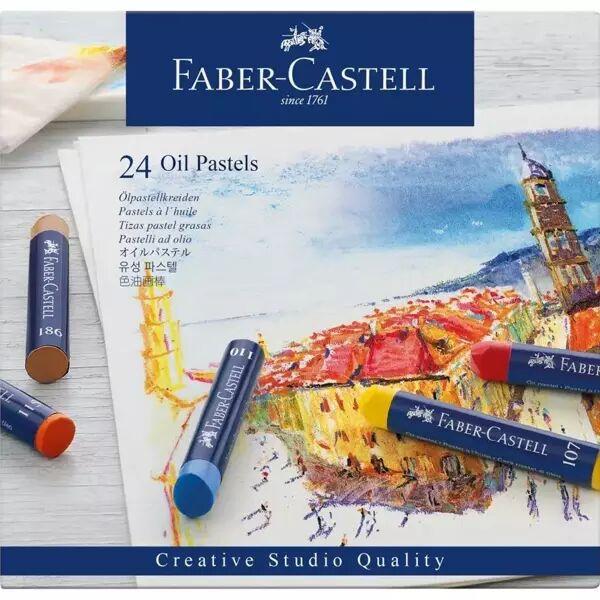 Pastele olejne CS 24 kolory FABER CASTELL