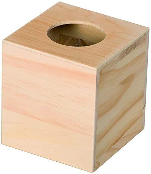 Artemio kwadratowe drewniane pudełko na chusteczki 14 x 13 x 13 cm, drewno