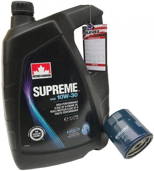 Filtr oleju oraz olej SUPREME 10W30 Chevrolet Lumina APV 3,4 / 3,8 V6