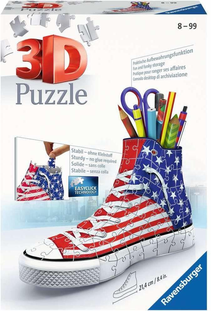 Ravensburger Puzzle 3D 12549 Ravensburger Amerykański Trampek 108 Elementów Puzzle 3D (12549) Dla Dzieci I Dorosłych. Technologia Easy Click - Każdy Element Pasuje Idealnie