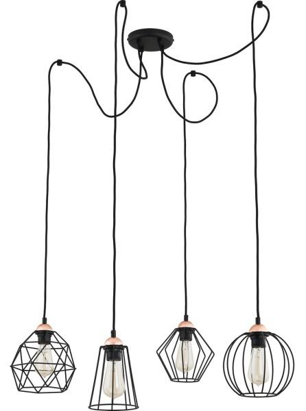 Lampa wisząca Galaxy pająk czarny druciany 1646 - TK Lighting Do -17% rabatu w koszyku i darmowa dostawa od 299zł !