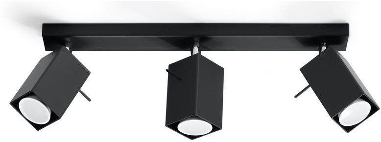 Sollux - plafon merida 3 - czarny