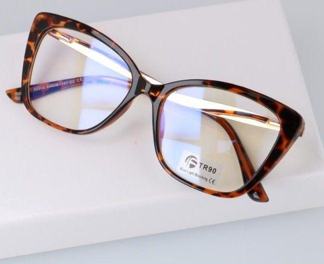 Okulary do komputera damskie z filtrem BLUE Light zerówki 2568-1