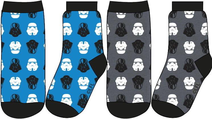 Skarpetki chłopięce GWIEZDNE WOJNY (Star Wars) Komplet - 2 pary