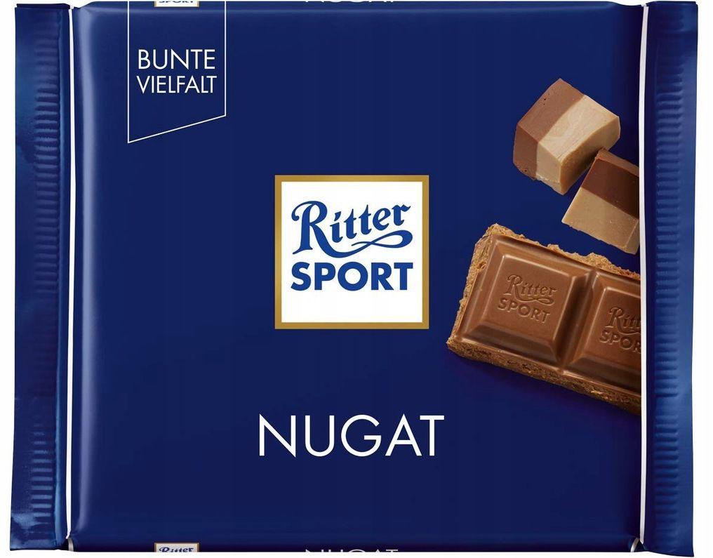RITTER SPORT czekolada mleczna NUGAT