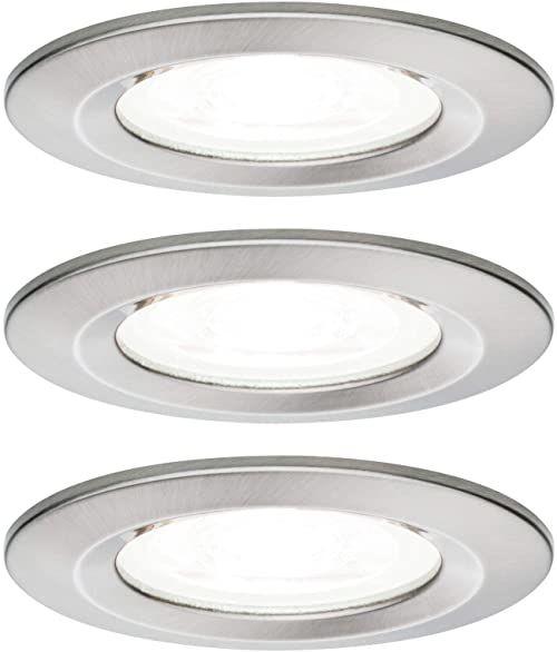 Paulmann 92979 Nova LED oprawa do zabudowy, okrągła, 3x6,5W, 4000K, GU10