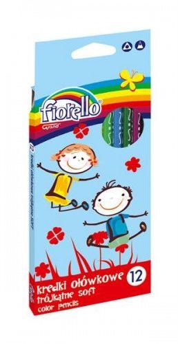 Kredki ołówkowe FIORELLO Super Soft, trójkątne 12 kolorów 170-2150