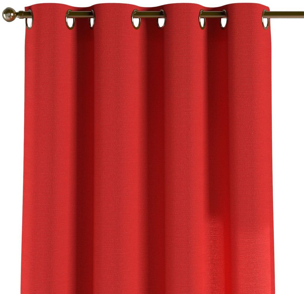 Zasłona na kółkach 1 szt., czerwony, 1szt 130  260 cm, Loneta