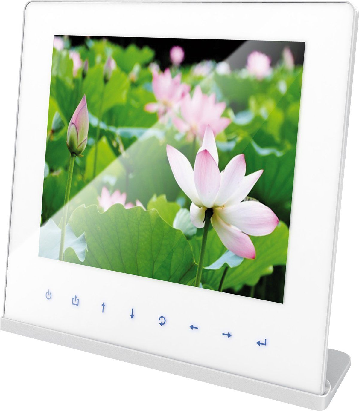 Rollei Designline 3106 WiFi ramka na zdjęcia (26,4 cm (10,4 cala), kolorowy wyświetlacz TFT-LCD, z pilotem zdalnego sterowania, proporcje obrazu 4:3, 128 MB pamięci wewnętrznej), biała