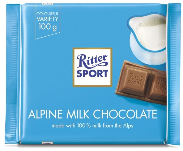 RITTER SPORT czekolada mleczna ALPENMILCH