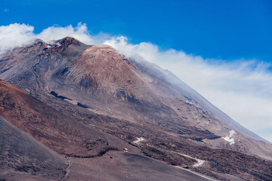Etna szlak na szczyt - plakat premium wymiar do wyboru: 29,7x21 cm