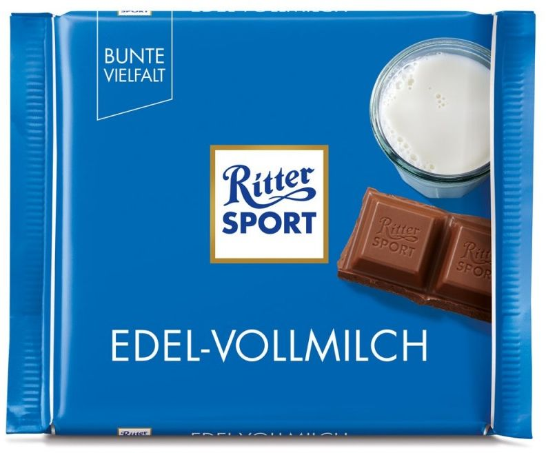 RITTER SPORT czekolada mleczna EDEL- VOLLMILCH