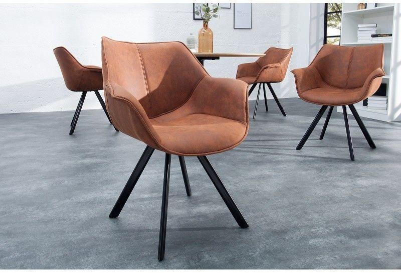 Krzesło Comfy Living antyczny brązowy