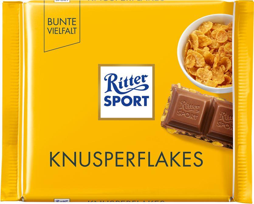 RITTER SPORT czekolada mleczna KNUSPERFLAKES