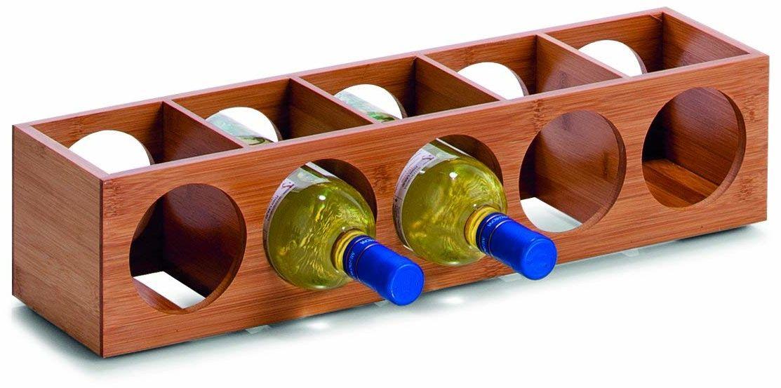 Zeller 13565 regał na wino, bambusowy, ok. 13,5 x 12,5 x 53 cm