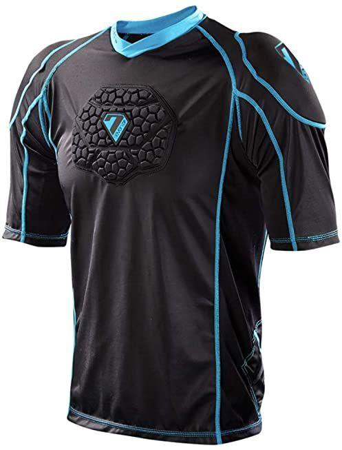 Seven Youth Flex Body T-Shirt, unisex, czarno-niebieski, L/XL