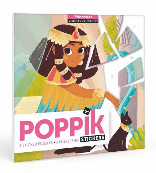Poppik - Pocztówki Wyklejanka Pixel art Księżniczki