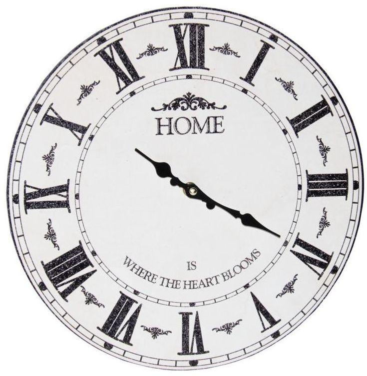 Zegar ścienny 7008 śr. 33.8 cm biały