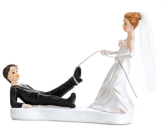 Figurka na tort weselny Młoda Para z linką PF16