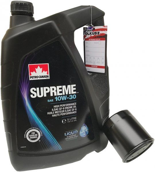 Filtr oleju oraz olej SUPREME 10W30 Jeep Liberty 2,4 16V