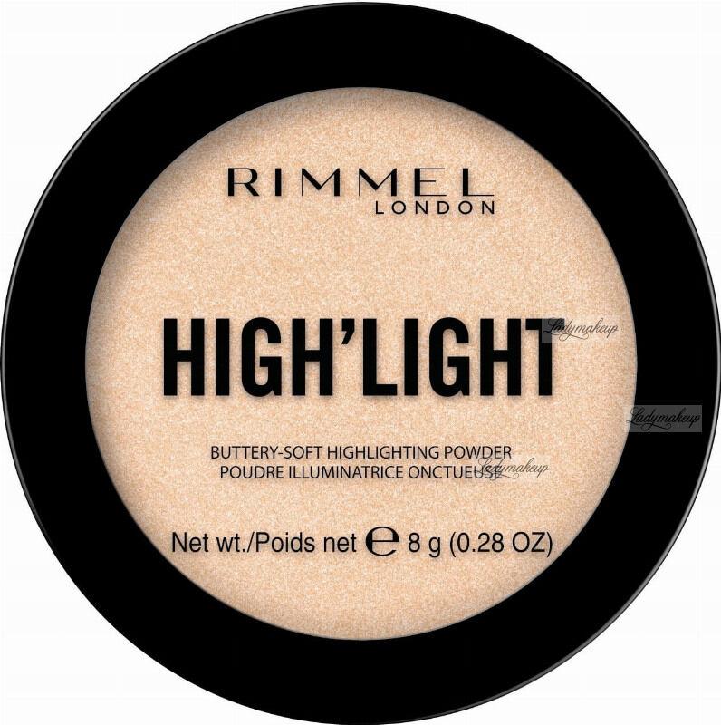 RIMMEL - HIGH''LIGHT Buttery Soft Highlighting Powder - Rozświetlacz do twarzy - 8 g - 001 STARDUST