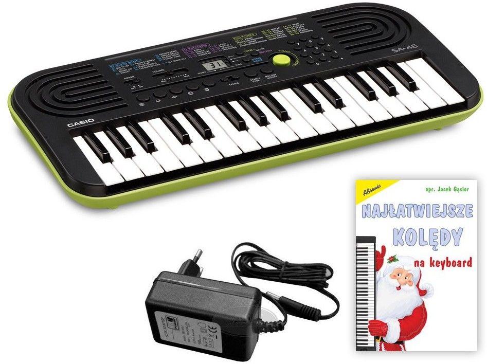 Casio SA-46 - mini keyboard + książeczka edukacyjna - Raty 30x0%!