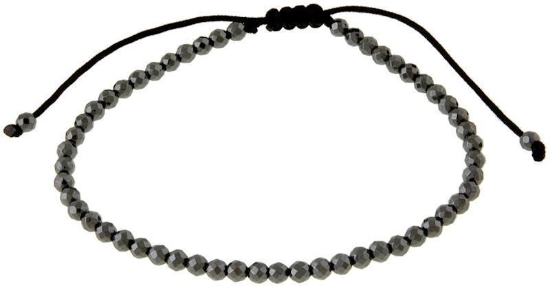 Srebrna bransoletka 925 sznurek z hematytem 3,9 g
