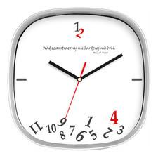 Zegar srebrny kwadrat stracony czas