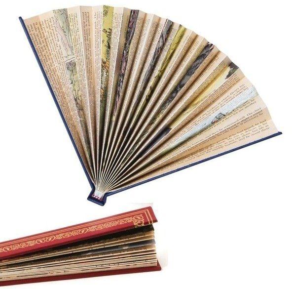Wachlarz książkowy bordowy