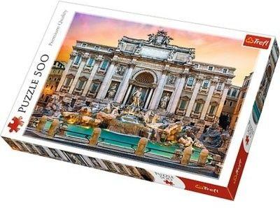 Trefl Duże Puzzle 500 Fontanna di Trevi Rzym Miasto Architektura Zabytek Trefl 5510-uniw
