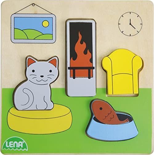 Lena 32142 drewniane puzzle do salonu, 4 części